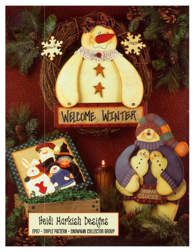 Snowman & Gingerbread Man Patterns (Printable Holiday Templates